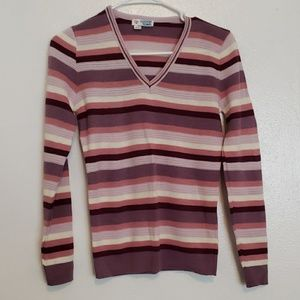 College Town Sweaters - Vintage college town v-neck striped sweater